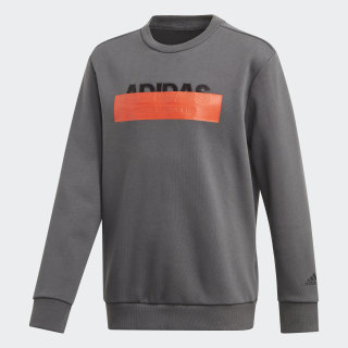 Athletics ID Lineage Crew Sweatshirt Grey Six DZ5939