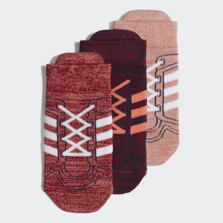 Chaussettes (3 paires) Semi Coral / Active Maroon / Grey Two ED8625