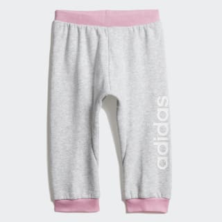 Pantaloni Linear Light Grey Heather / Light Pink / White DV1268