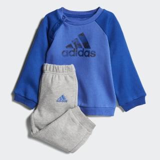 Conjunto Polerón y Pantalón adidas Logo TOP:HI-RES BLUE S18/COLLEGIATE ROYAL/COLLEGIATE NAVY BOTTOM:MEDIUM GREY HEATHER/HI-RES BLUE S18 CF7376