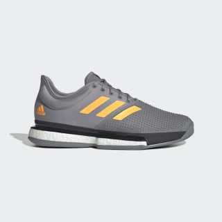 SoleCourt Shoes Grey Three / Flash Orange / Carbon EF2067