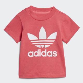 Tričko Trefoil Real Pink / White ED7682