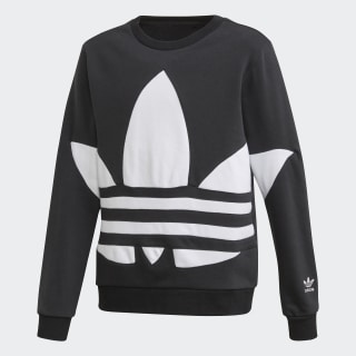 Big Trefoil Crew Sweatshirt Black / White FS1852