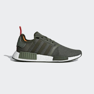 Zapatillas NMD_R1 BASE GREEN/NIGHT CARGO/SOLAR ORANGE B37620