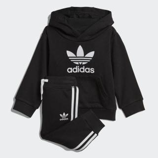 Комплект: худи и брюки Trefoil Black / White DV2809
