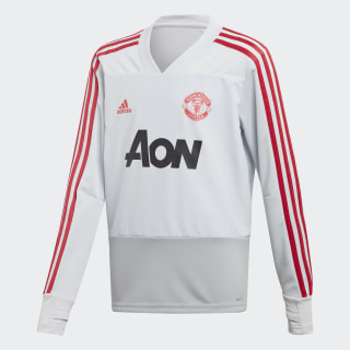 Manchester United Training Top Clear Grey / Blaze Red DP6826