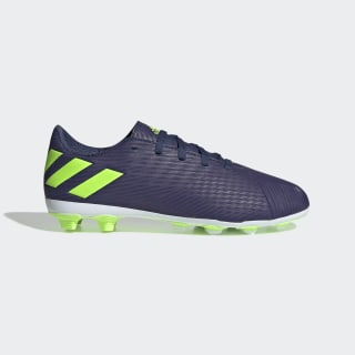 Tenis de Fútbol Nemeziz Messi 19.4 Terreno Flexible Tech Indigo / Signal Green / Glory Purple EF1816