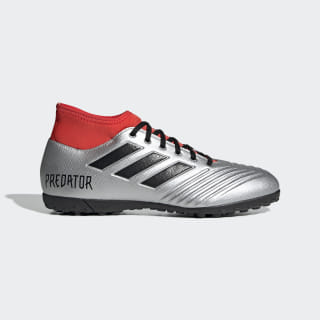 Chuteira Predator 19.4 Society Silver Metallic / Core Black / Hi-Res Red EF0411