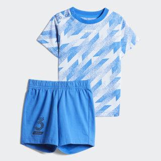Short Sleeve Setje Glow Blue / White / Black FT8685
