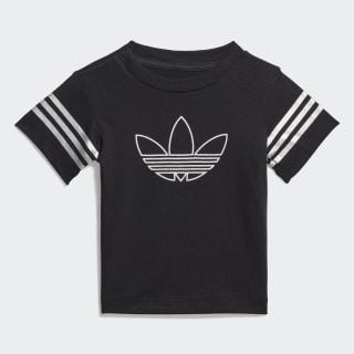 T-shirt Outline Black / White / Silver Metallic FM4444