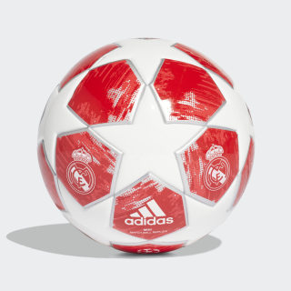 Mini balón Finale 18 Real Madrid WHITE/SILVER MET./REAL CORAL S18/VIVID RED CW4137