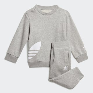Big Trefoil Crew Set Medium Grey Heather / White FT8795