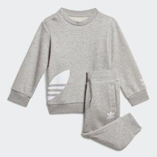 Conjunto Big Trefoil Medium Grey Heather / White FT8795