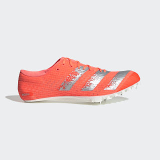 Adizero Finesse Spike-Schuh Signal Coral / Silver Metallic / Cloud White EE4598
