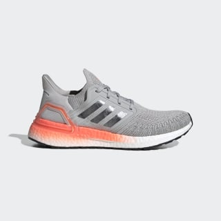 Кроссовки для бега Ultraboost 20 grey two f17 / night met. / signal coral EG0719