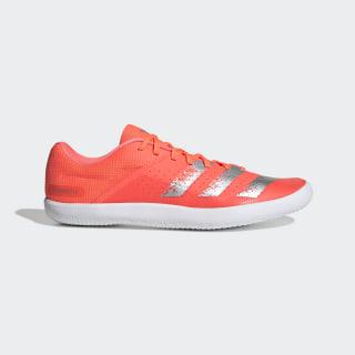 Zapatilla de atletismo Throwstar Signal Coral / Silver Metallic / Cloud White EE4673