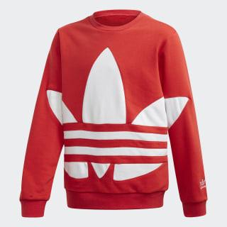 Big Trefoil Crew sweatshirt Lush Red / White FS1853