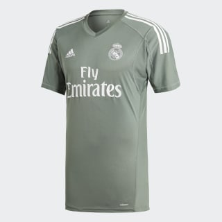 Real Madrid Home Goalkeeper Jersey Trace Green / White B31100