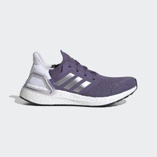 Chaussure Ultraboost 20 Tech Purple / Silver Metallic / Cloud White EG0718