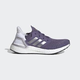 Ultraboost 20 Schoenen Tech Purple / Silver Metallic / Cloud White EG0718