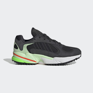 Yung-1 Trail Shoes Carbon / Core Black / Glow Green EE6538