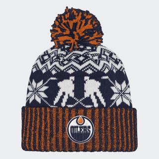 Oilers Ugly Sweater Cuffed Pom Beanie Nhleoi CY4145