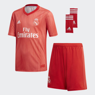 Real Madrid Mini-Ausweichausrüstung Real Coral / Vivid Red DP5444