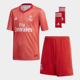Real Madrid Third Mini Kit Real Coral / Vivid Red DP5444