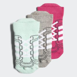 Ankle Socks 3 Pairs Real Magenta / Medium Grey Heather / Clear Mint DJ2302