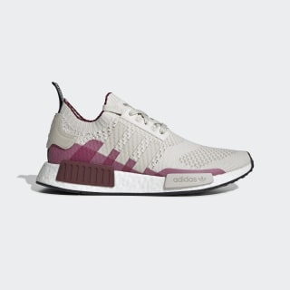 NMD_R1 Primeknit Shoes Raw White / Clear Brown / Collegiate Burgundy EE5077