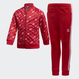 Monogram Trefoil SST Track Suit Collegiate Red / White D98864