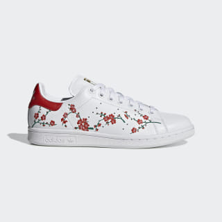 Tênis Stan Smith W Cloud White / Scarlet / Core Black EG2863