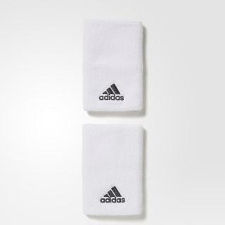 Muñequeras de Tenis Grandes WHITE/WHITE/BLACK S97835