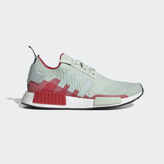 NMD_R1 Primeknit Shoes Linen Green / Vapour Green / Scarlet EE5078