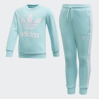 Sweatshirt Set Clear Aqua / White FM5624
