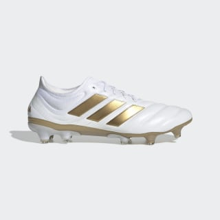 Футбольные бутсы Copa 19.1 FG ftwr white / gold met. / football blue F35516