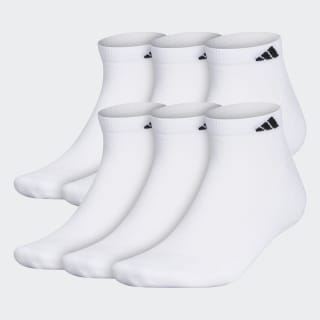 Athletic Cushioned Low-Cut Socks 6 Pairs XL White B93221