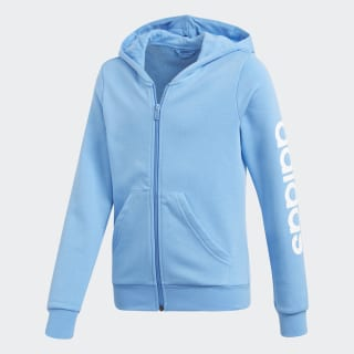 Essentials Linear Hoodie Lucky Blue / White DV0359