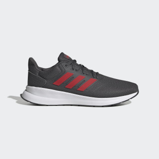 Runfalcon Shoes Grey Six / Scarlet / Cloud White EG8602