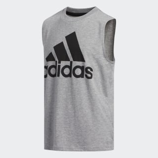 ADIDAS LOGO TANK Medium Grey Heather CL0932