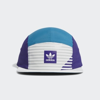 Elevated Five-Panel Cap White / Collegiate Purple / Active Teal / Grey Two EC6489