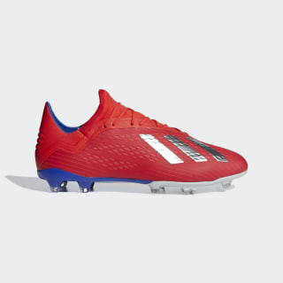 X 18.2 Firm Ground Cleats Active Red / Silver Metallic / Bold Blue BB9363