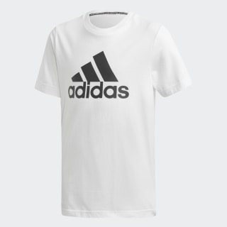 Camiseta Must Haves Badge of Sport White / Black DV0815