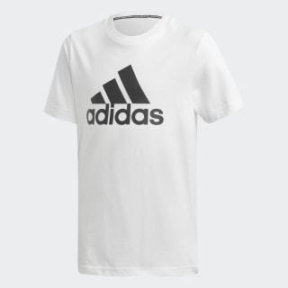 Tričko Must Haves Badge of Sport White / Black DV0815