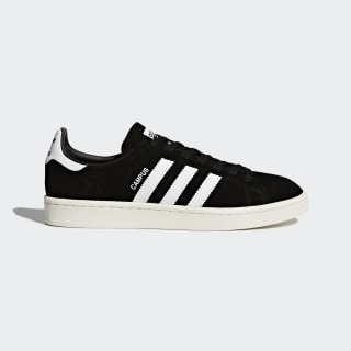 Zapatilla Campus Core Black / Footwear White / Chalk White BZ0084