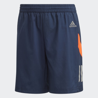 Own the Run Shorts Collegiate Navy / Solar Red / Reflective Silver FK9512