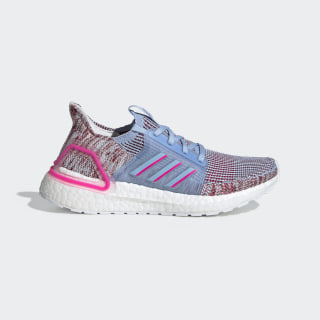 Chaussure Ultraboost 19 Glow Blue / Shock Pink / Active Maroon EE6656