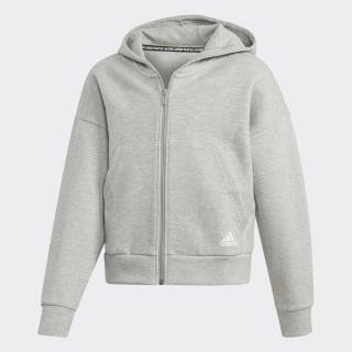 Must Haves 3-Streifen Kapuzenjacke Medium Grey Heather / White ED4627
