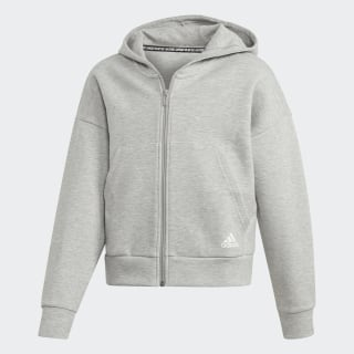 Must Haves 3-Stripes Hoodie Medium Grey Heather / White ED4627