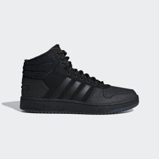 Утепленные кроссовки Hoops 2.0 Mid core black / core black / carbon B44621